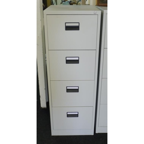 6 - 4 Drawer metal filing cabinet...