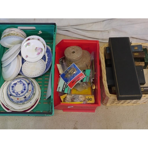 9 - 3 Boxes of silver plate, cutlery and miscellaneous...