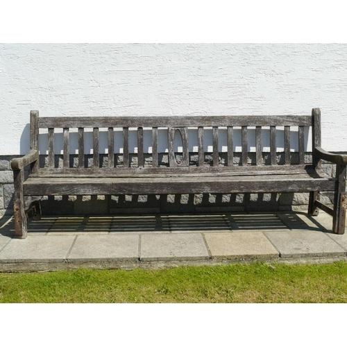 1 - Hardwood garden bench...