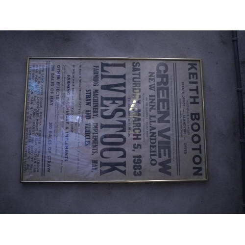 13 - Framed poster- Green view sale...