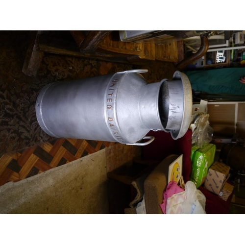 18 - 10 Gallon milk churn. United Dairies...