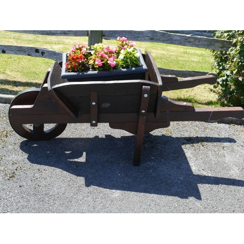 2 - Wooden wheelbarrow...
