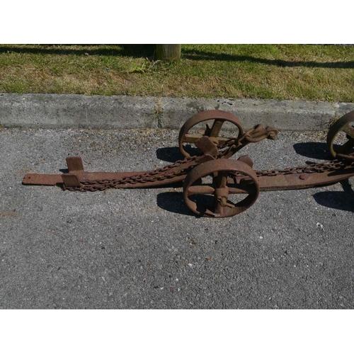 20 - Cast iron wagon brake...