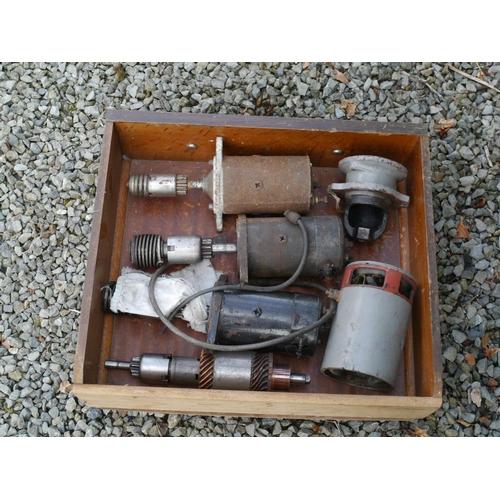 14 - Tray of starter motors...