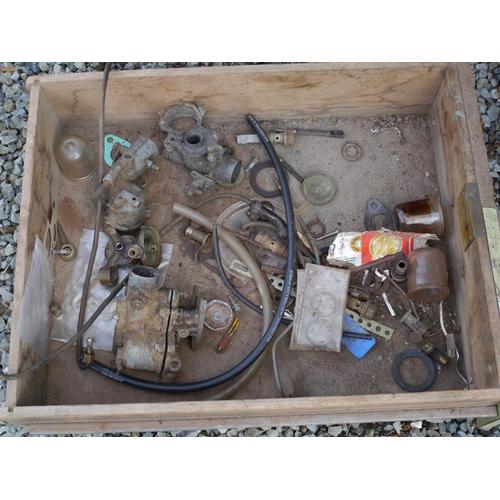 15 - Tray of carburetor parts...