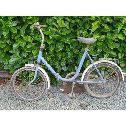 2 - Ladies blue folding bike...