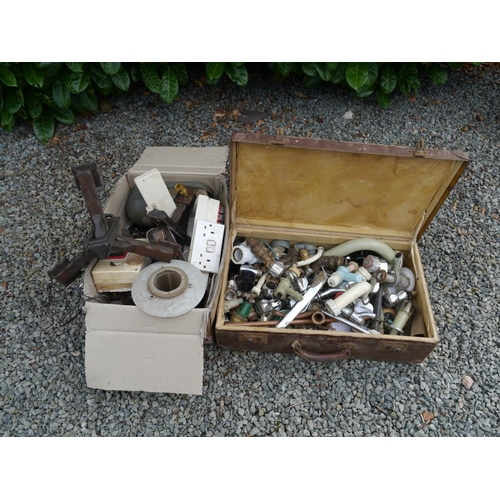 20 - Box of light fittings and plumbing fittings...