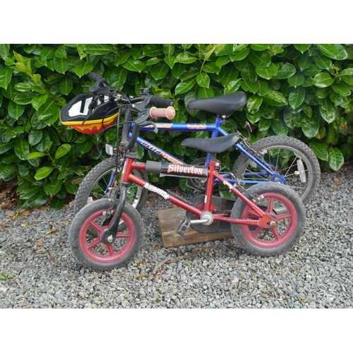3 - Boys Delta Force bike & boys Silverfox bike with helmet...