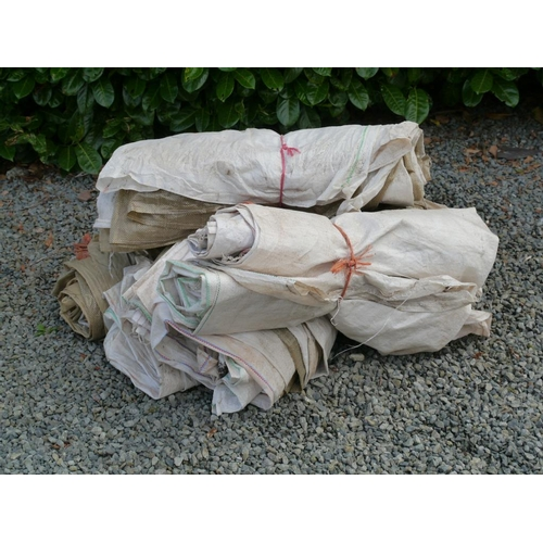 8 - 5 Bundles of polypropylene sacks...