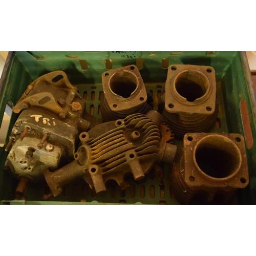 11 - Box of Triumph 1930's engine parts...