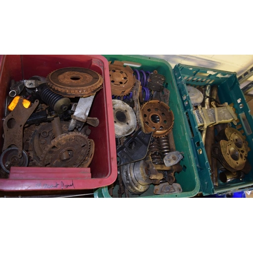 13 - 3 Boxes of assorted motorbike parts...