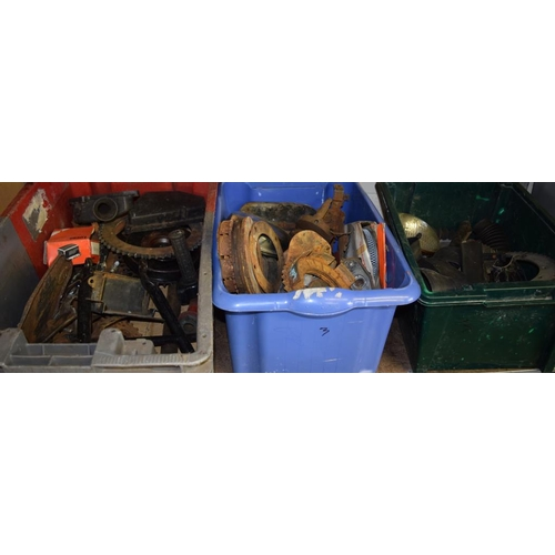 14 - 3 Boxes of assorted motorbike parts...