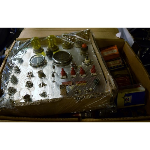 3 - Box of spares to include bulbs, switches and handles...