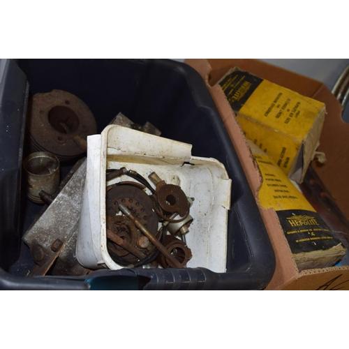 53 - Royal Enfield engine and box of autojumble...