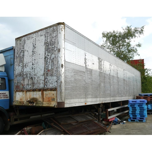 18 - Aluminium box trailer, 40ft, two axle...