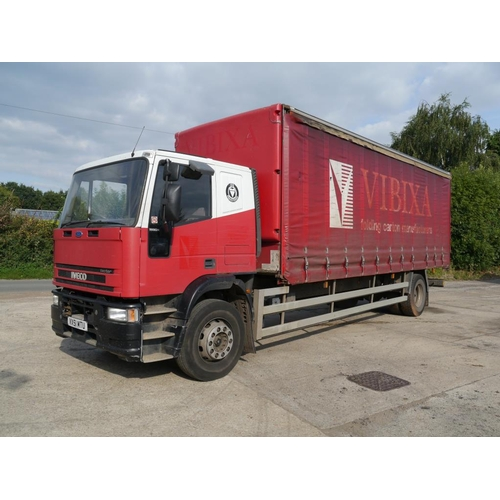 22 - Iveco tector curtainside lorry, 18Ton, MOT expiry November 2018. Reg. VX51 MTU...