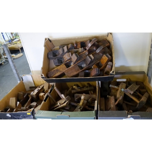 201 - 4 Boxes woodworking tools...