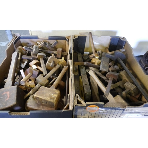 202 - 2 Boxes woodworking tools...