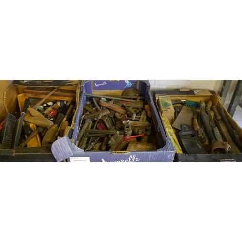 211 - Shelf mixed tools including rasps...