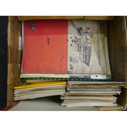 17 - Massey Ferguson instruction books and other manuals...