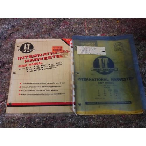 27 - 2 International Harvest shop manuals...