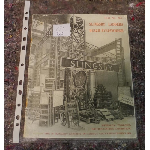 29 - Early 1900 Slingsby ladder 20 page catalogue...
