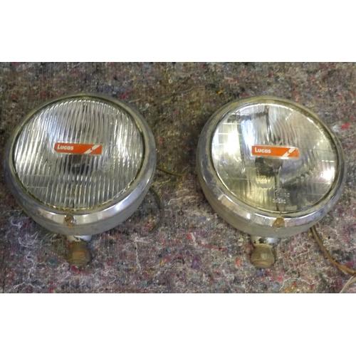 60 - Pair of Lucas headlamps...