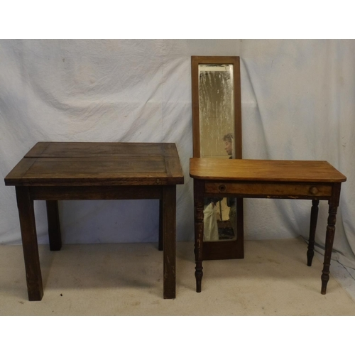 36 - Extending dining table, mirror and sideboard...
