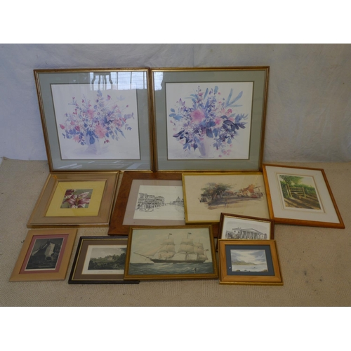 4 - Large quantity of floral prints and local town scenes...