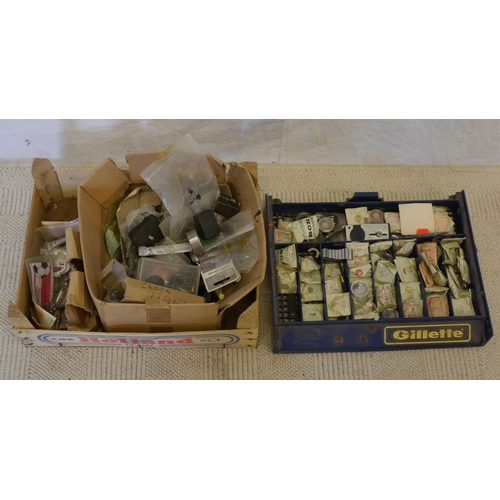 44 - 2 Boxed assorted watch spares...