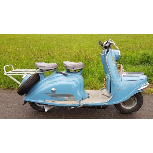 546 - Peugeot VQ59.956 scooter. C/w French docs. NOVA Certificate will be applied at purchase of sale....