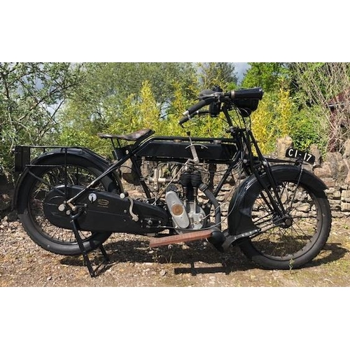 577 - Sunbeam 3.5HP motorcycle. 1921. 500cc. Re Registered in 2010.From the deceased Francis Guy collectio...