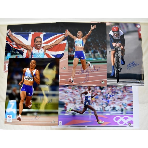 12 - Collection of Limited Edition signed photographs including Kelly Holmes, Bradley Wiggins, Mo Farah...