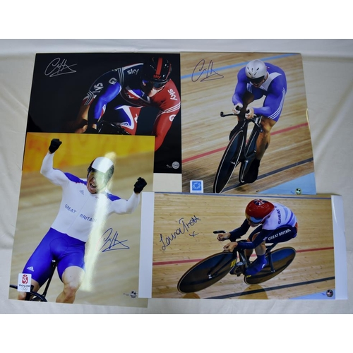 25 - Collection of signed Limited Edition photographs of Chris Hoy and Laura Trott...