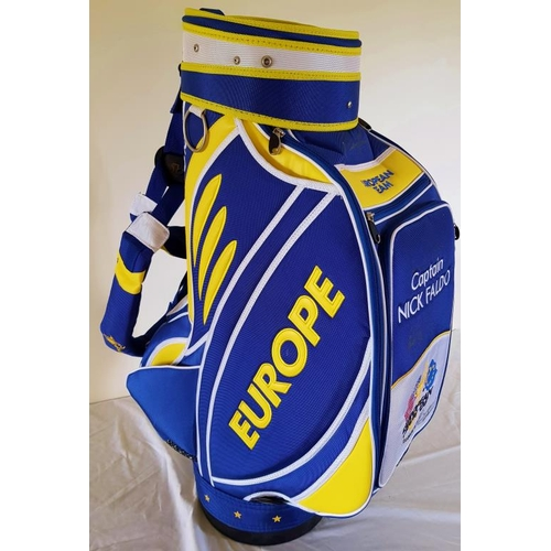 323 - The Ryder Cup 2008, Valhalla, European team golf bag signed by 7 members of the European team...