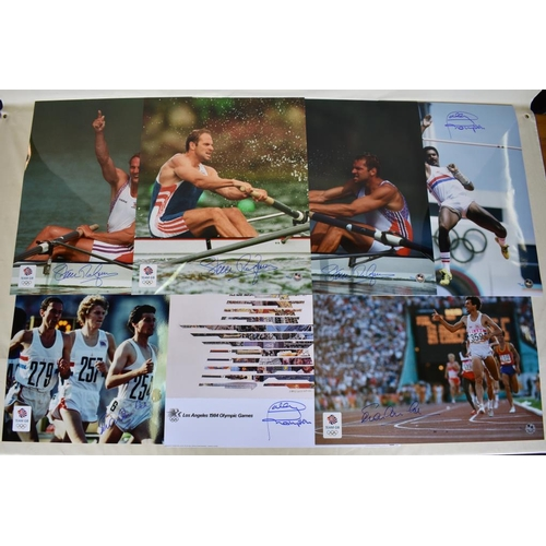 38 - Collection of signed Limited Edition photographs of Daley Thompson, Sebastian Coe, Steve Redgrave et...