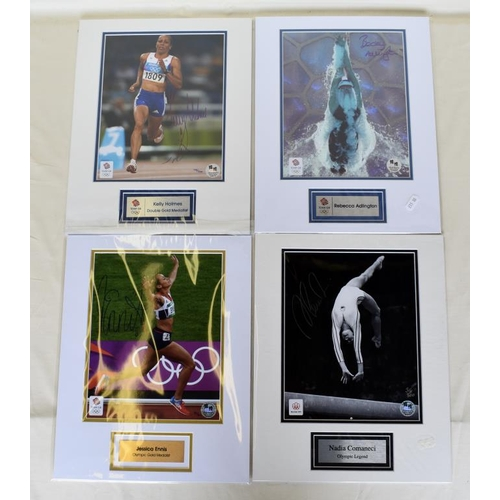 39 - Collection of signed Limited Edition framed photographs. Nadia Comaneci, Jessica Ennis, Kelly Holmes...