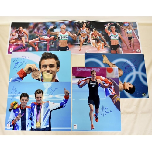 47 - Collection of signed Team GB photographs, including Jessica Ennis, Tom Daley and the Brownlee brothe...