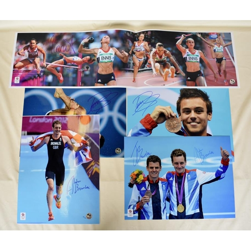 48 - Collection of signed Team GB photographs, including Jessica Ennis, Tom Daley and the Brownlee brothe...
