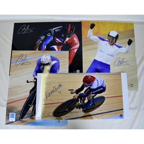 49 - Collection of signed Limited Edition photographs of Chris Hoy and Laura Trott...