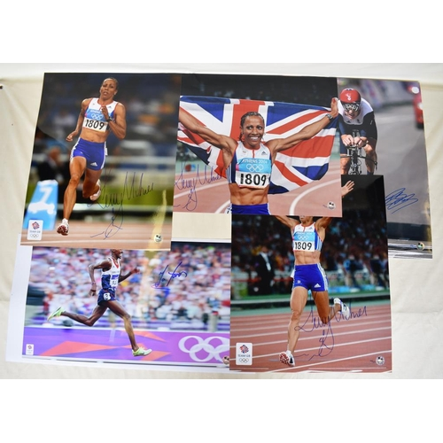 52 - Signed Limited Edition Kelly Holmes photographs, signed Limited Edition photograph of Bradley Wiggin...
