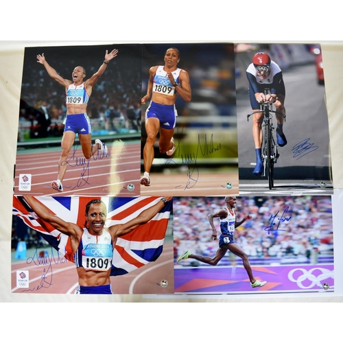 53 - Collection of Limited Edition signed photographs including Kelly Holmes, Bradley Wiggins, Mo Farah...