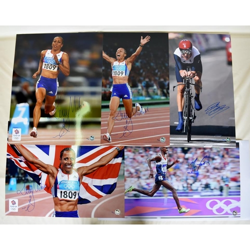 54 - Collection of Limited Edition signed photographs including Kelly Holmes, Bradley Wiggins, Mo Farah...