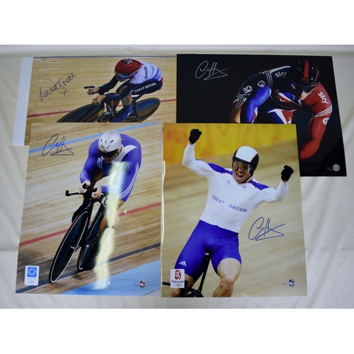 6 - Collection of signed Limited Edition photographs of Chris Hoy and Laura Trott...