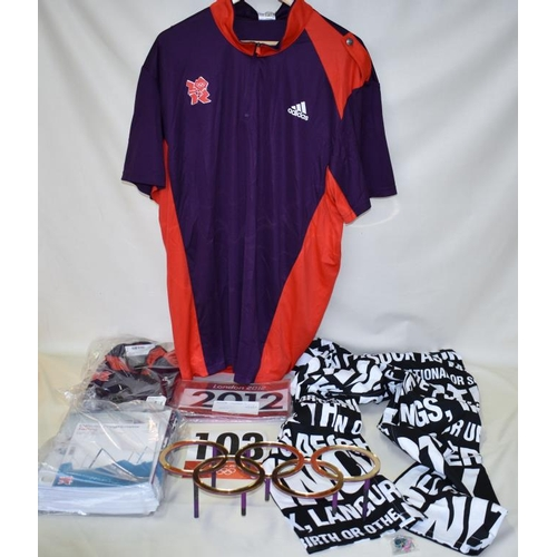 62 - Collection of 2012 memorabilia including clothing for opening ceremony...