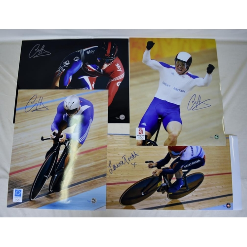 7 - Collection of signed Limited Edition photographs of Chris Hoy and Laura Trott...