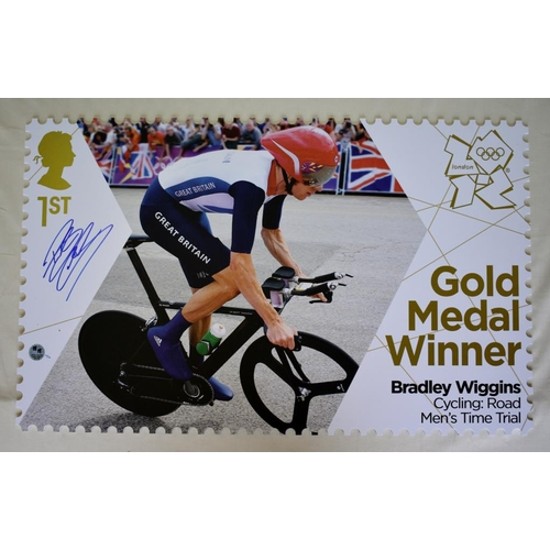 8 - Bradley Wiggins Limited Edition 1st class Royal Mail stamp 11/12. A scaled-up version of the actual ...