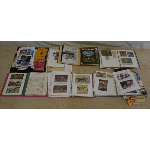 10 - Hagon and JAP information books, JAP maintenance repair book and various speedway and grasstrack bik...