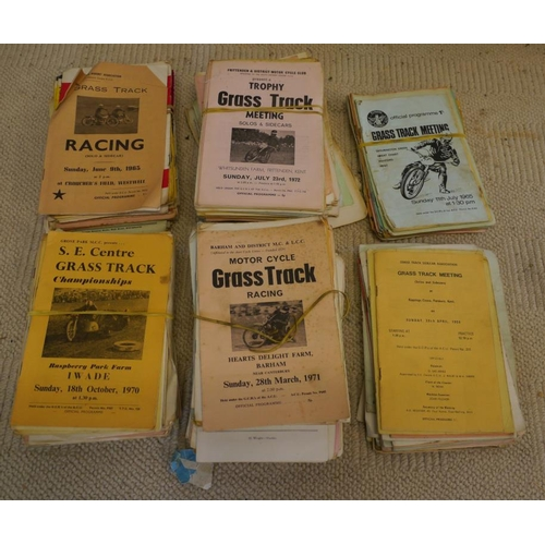11 - 1960's and 70's Grasstrack meeting programmes...