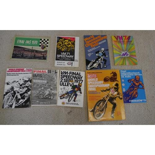 31 - 1970-72 74-79 World Speedway Final programmes...